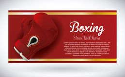 Boxing label design vector illustration eps10 graphic Stock Photos
