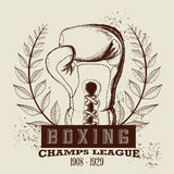 Boxing label design vector illustration eps10 graphic Royalty Free Stock Image