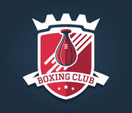 Boxing label Stock Image