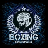 Boxing labels on grunge background Royalty Free Stock Photography