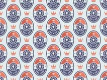 Boxing logo pattern Royalty Free Stock Image