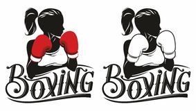 Boxing logo. Sport boxing logo for the tournament, competition, sports clubs, federations Royalty Free Stock Image