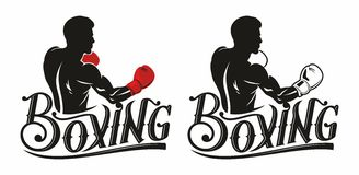Boxing logo Royalty Free Stock Image