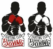 Boxing logo. Sport boxing logo for the tournament, competition, sports clubs, federations Stock Images