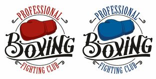 Boxing logo. Sporty boxing logo for competition, sports clubs Royalty Free Stock Photo