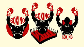 Boxing logo Stock Photo