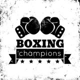 Boxing logo. Vintage logo for a boxing on grunge background Royalty Free Stock Photography