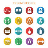 Boxing long shadow icons Stock Photos