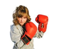 Boxing Look Stock Photography