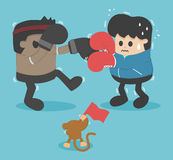 Boxing lose weight. Vector eps .10 Illustration Stock Photography