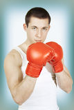 Boxing man Royalty Free Stock Photos
