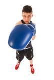 Boxing man with big punch Stock Images