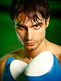 Boxing. Man in boxing gloves Stock Images