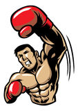 Boxing man punch Royalty Free Stock Photography