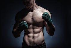 Boxing man Stock Photo