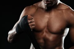 Boxing man ready to fight Royalty Free Stock Photo