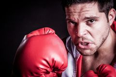 Boxing Man Sweating Royalty Free Stock Photography