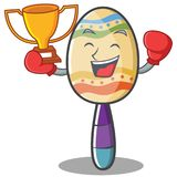 Boxing maracas character cartoon style Royalty Free Stock Images