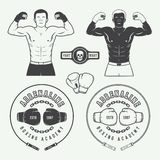 Boxing and martial arts logo badges, labels and design elements Stock Photo