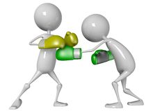 Boxing match Stock Photography