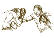 Boxing match Stock Photos