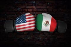 A boxing match Stock Image