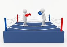 Boxing match Royalty Free Stock Photo