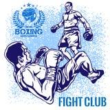 Boxing Match - Retro Illustration on grunge Stock Image