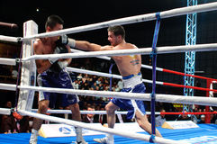 Boxing match for WBC Intercontinental Title Stock Photos