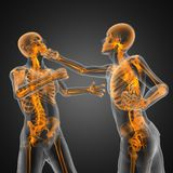 Boxing men. Made in 3D graphics Stock Photo