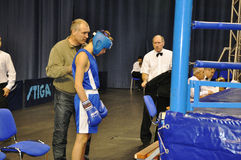 Boxing for men. XVII all-boxing tournament grade b championships on Northern Territory administration prizes, Orenburg Royalty Free Stock Images