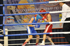 Boxing for men. XVII all-boxing tournament grade b championships on Northern Territory administration prizes, Orenburg Stock Photo