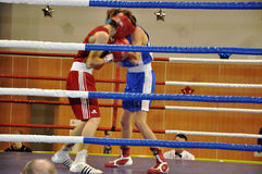 Boxing for men. XVII all-boxing tournament grade b championships on Northern Territory administration prizes, Orenburg Royalty Free Stock Photography