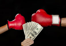 Boxing for Money. Royalty Free Stock Photos
