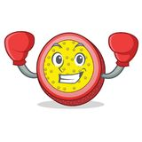 Boxing passion fruit character cartoon. Vector illustration Royalty Free Stock Photography