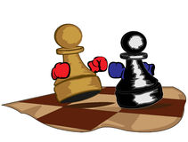 Boxing pawns Stock Photo