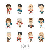 Boxing player Royalty Free Stock Photo
