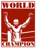 Boxing poster. Illustration of a boxing poster Royalty Free Stock Photography