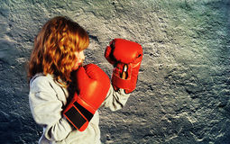 Boxing Practice Stock Photography