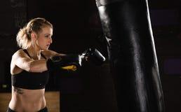 Boxing practice Stock Photo