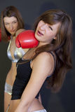 Boxing punch Royalty Free Stock Image
