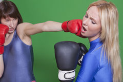 Boxing punch Royalty Free Stock Images