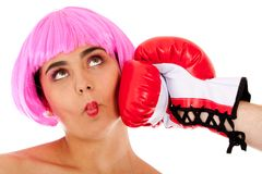Boxing punch Royalty Free Stock Photo