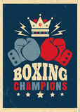 Boxing retro poster Stock Photo