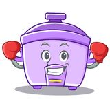 Boxing rice cooker character cartoon Stock Photo