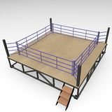 Boxing ring. 3d render of boxing ring Royalty Free Stock Photos