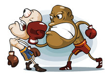 Boxing on Ring. Stock Image