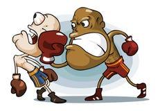 Boxing on Ring. stock illustration