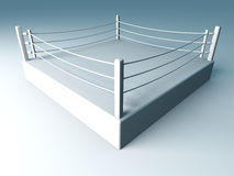 Boxing ring. 3D rendered Illustration. A boxing ring Royalty Free Stock Photo