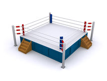 Boxing ring. Isolated on a white background (3d render Stock Photography